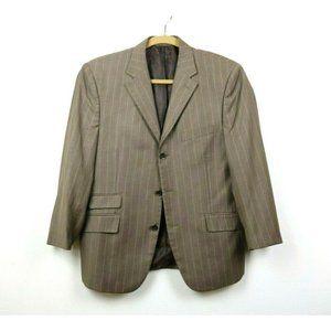 Steve Harvey Mens Suit Jacket Pinstripe Lined 44S